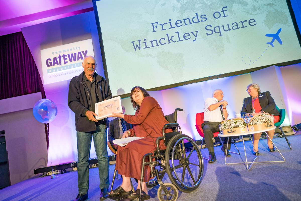 Friends of Winckley Square receiving their award