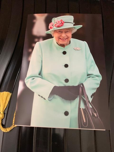 Front of the card from the Queen