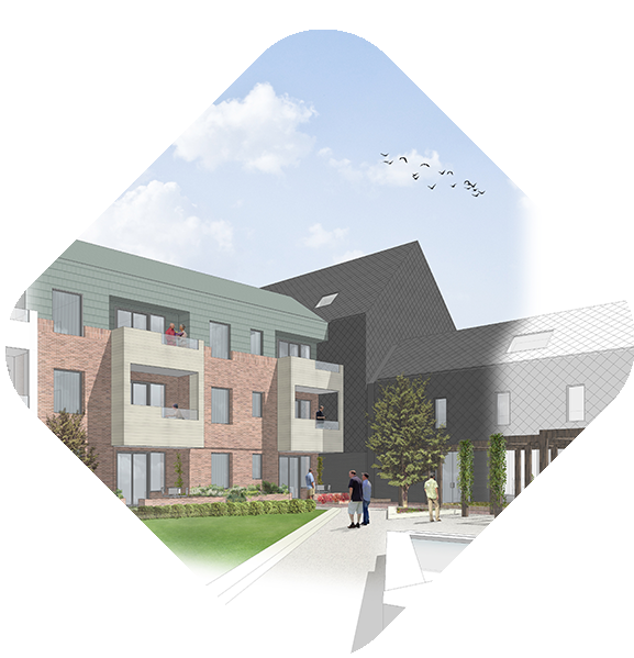 Artists impression - Courtyards exterior