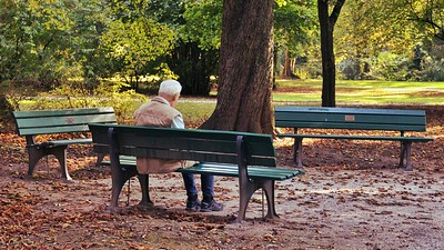 Elderly Man on bench