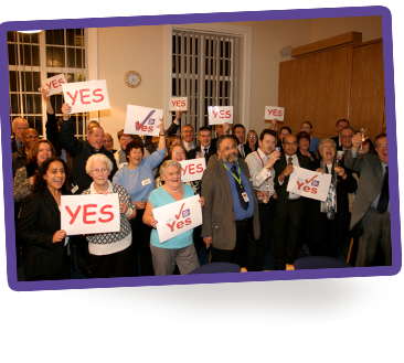 Our tenants vote yes