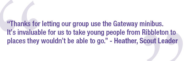 Quote on how the young people have benefited from the CGA mini bus