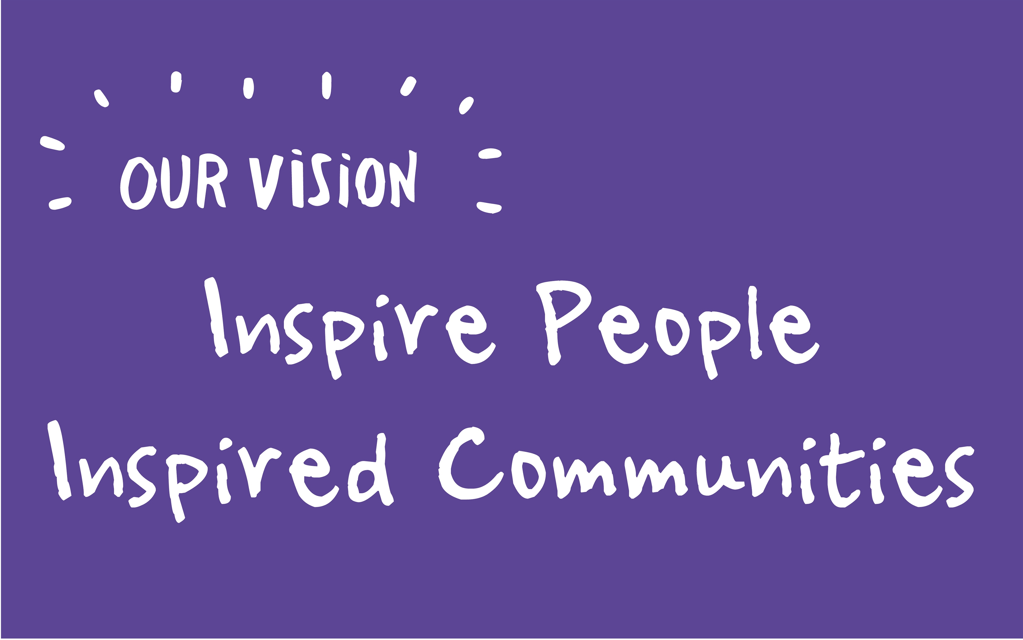 Image that reads 'Inspire People Inspired Communities'
